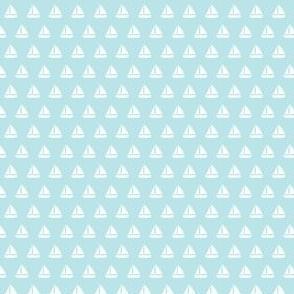 (micro scale) sailboats - nautical - blue  LAD19BS