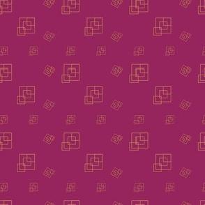 Violet  - Squares - Support pattern