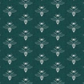 Bees - Green - Linen
