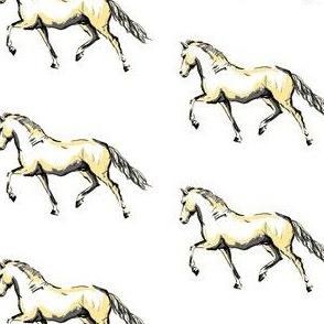 Prancing Pony Sketch - Cream