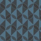 Lattice grey blue