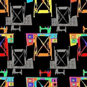 Vintage Sewing Machine - Rainbow