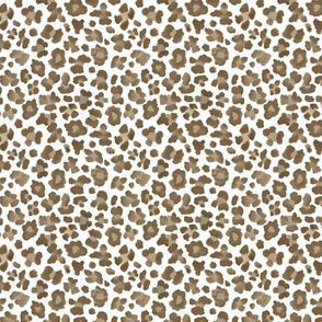 "3"" Brown and White Leopard Print"
