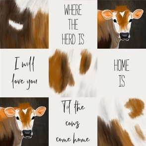 Til the cows come home quilt