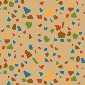 Terrazzo in Trendy1960s Colors