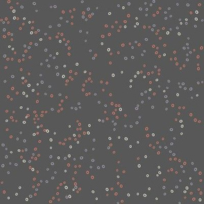 Scatter Dot | Coral on Charcoal