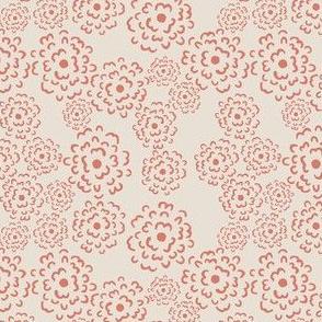 Scatter Floral | Coral on Alabaster