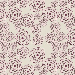 Scatter Floral | Framboise on Shell