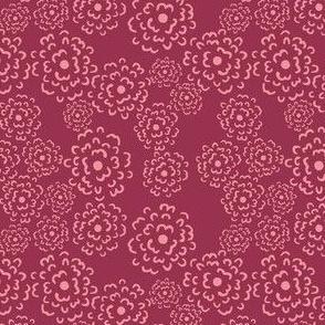 Scatter Floral | Pink on Cerise