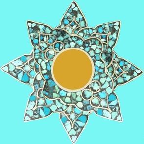 Native American Turquoise Star Tile