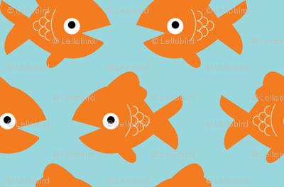 Swimming Goldfish Large - Blue