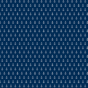 Anchors - MINI 091 navy - white anchors