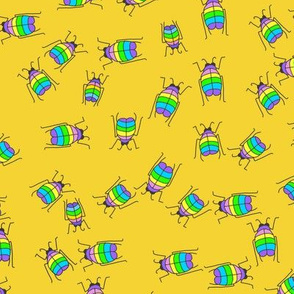 Rainbow beetles yellow