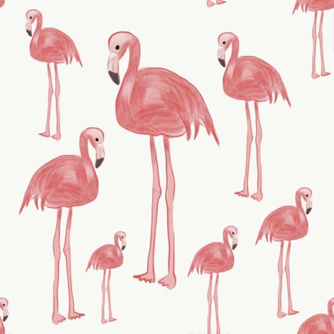 Flamingo Sketch fabric by deb_owen on Spoonflower - custom fabric