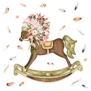 "7"" Peach boho Rocking Horse"