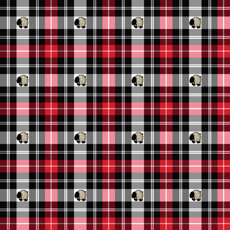 sheep-plaid fabric by spunky_eclectic on Spoonflower - custom fabric