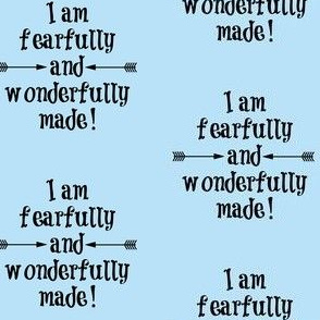Fearfully and Wonderfully Made Light Blue