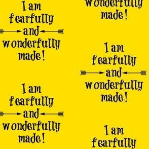 Fearfully and Wonderfully Made Yellow