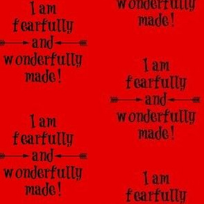 Fearfully and Wonderfully Made Red