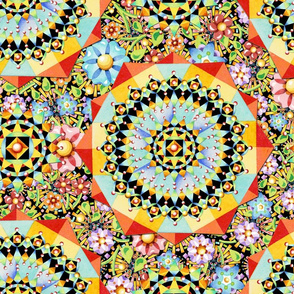Maximalist Floral Geometry