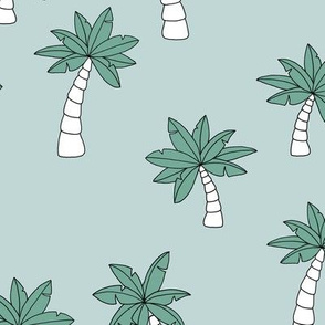 Little surf summer trip palm tree designs mint blue boys