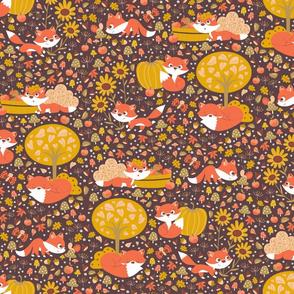 Foxy Fall half drop
