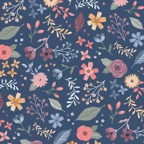 Meadow Blooms Blue