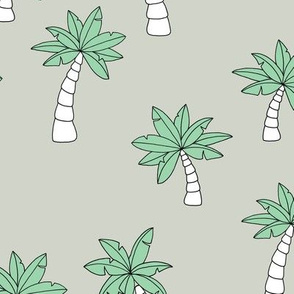 Little surf summer trip palm tree designs mint green boys