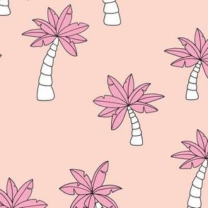 Little surf summer trip palm tree designs pink peach girls