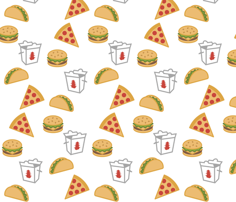 Take Out fabric by sunshineandspoons on Spoonflower - custom fabric