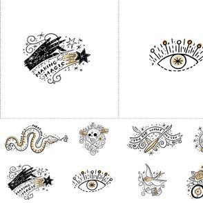 Magic Ink Embroidery panel Magic_EvilEye-01