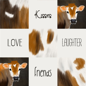 Cow cheater quilt love joy kisses