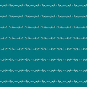 Leafy Lines | Shell on teal