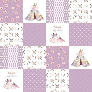 Boho Wholecloth Quilt - Deer Teepee - Boho3