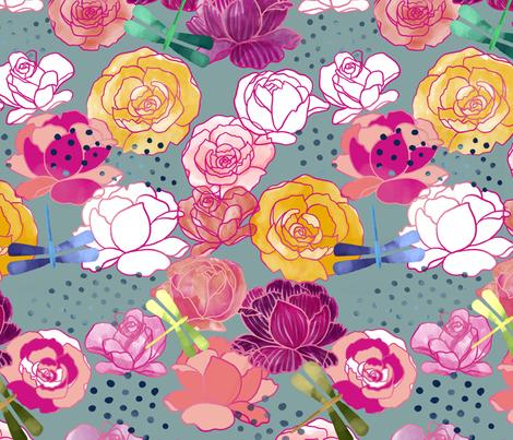 Maximalist garden fabric by mrshervi on Spoonflower - custom fabric