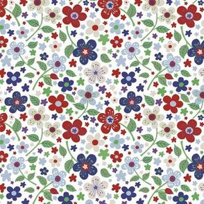 Floral pattern White