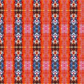 Orange Crepe Stripes