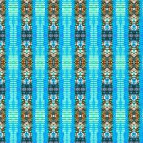 Blue Crepe Stripes