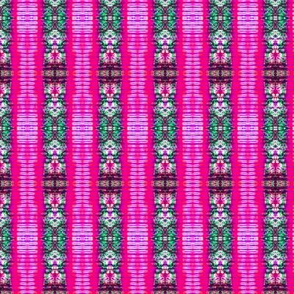 Pink Crepe Stripes