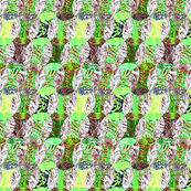 geo in animal skin texture green and yellow