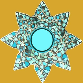 Native American Turquoise Star on Ye