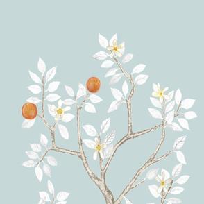Citrus Grove Orange Tree Panel B- Mist