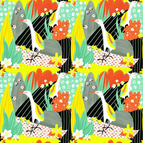 Hawaiian bird collage
