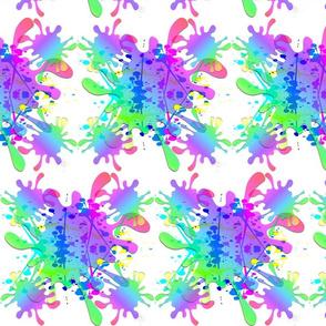 Make a Rainbow Splash! #5 white