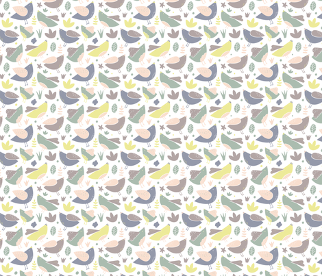 spring chicks fabric by gemmacosgroveball on Spoonflower - custom fabric