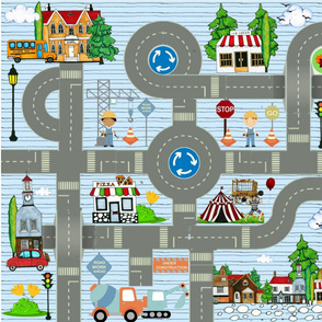Happy Town Playmat Full Yard