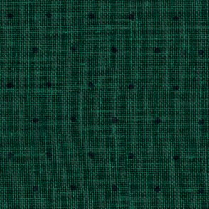 Black on Woven Emerald Green Organic Polka Dots Spots