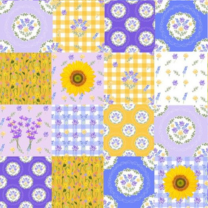 Provence Collection Patchwork Quilt