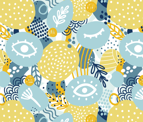 Abstract eyes fabric by kondratya on Spoonflower - custom fabric