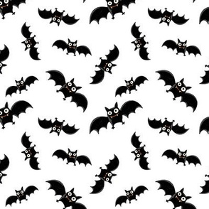 Black and White Halloween Bats